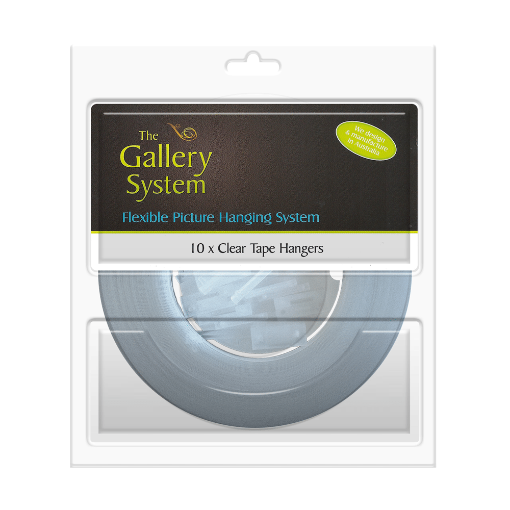 The Gallery System Clear Tape Droppers – Pack Shot