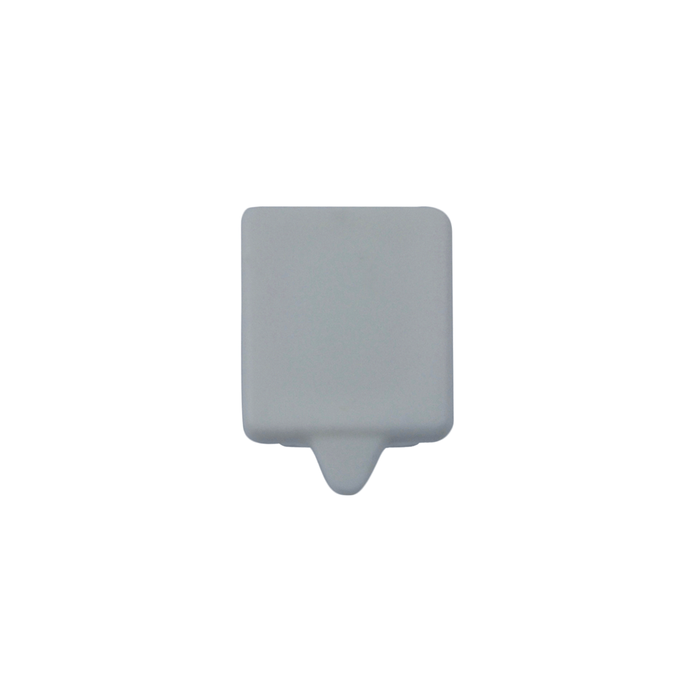 The Gallery System White End Cap for White Track – End View