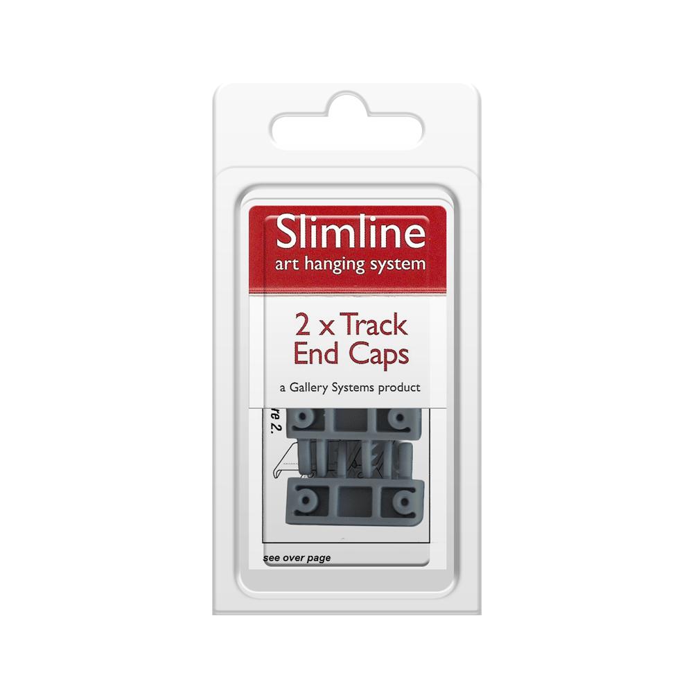 The Slimline Art Hanging System Grey Track End Caps – Pack Shot