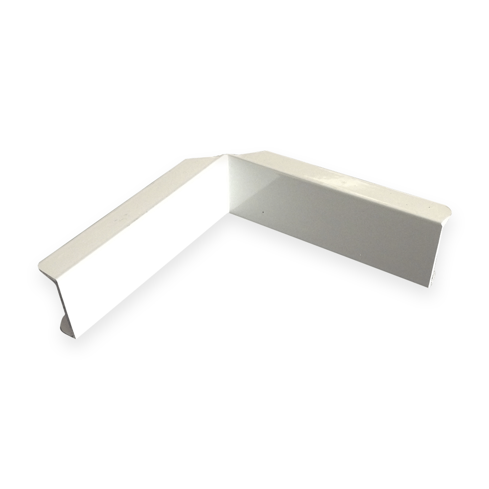The Gallery Lighting System – White Internal Corner Cover – Front