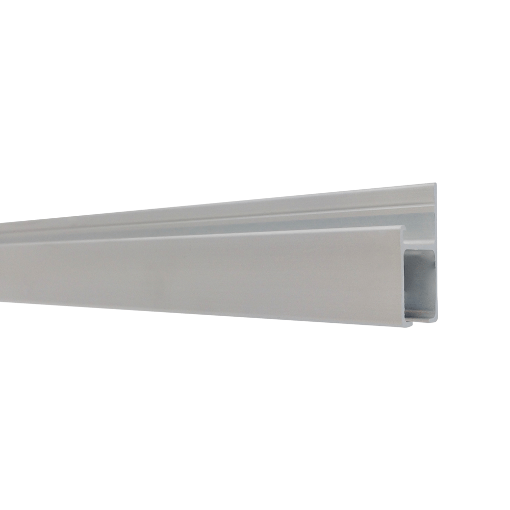 The Gallery System Track (rails) – Anodised Silver Finish